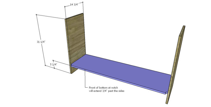 DIY Plans to Build a Spring Rose Dresser-Bottom 2