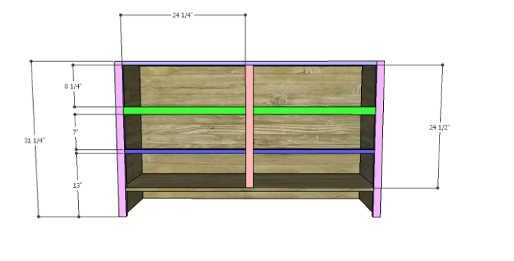DIY Plans to Build a Spring Rose Dresser-Front Stretchers 2