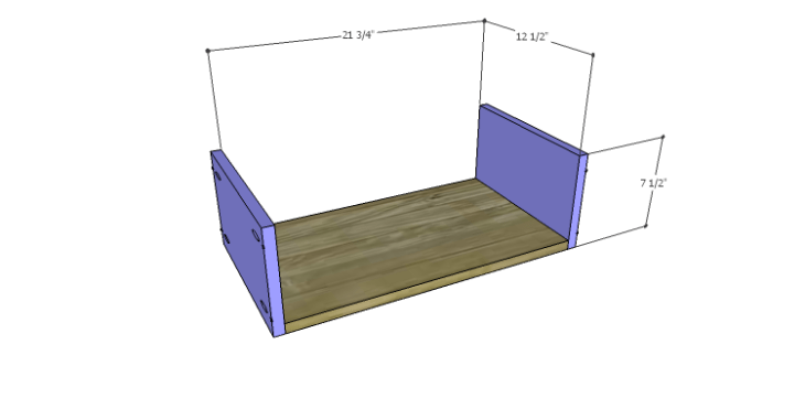 DIY Plans to Build a Spring Rose Dresser-Lg Drawer BS