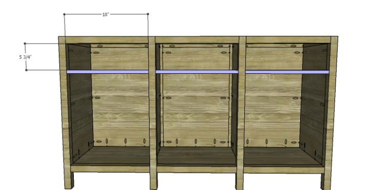 DIY Plans to Build an Alexander Sideboard_Front Stretchers