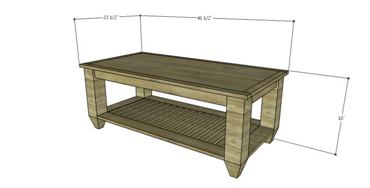 DIY Plans to Build a Messner Coffee Table