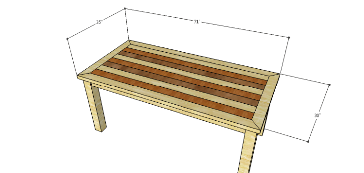 DIY Plans to Build a Burlington Dining Table