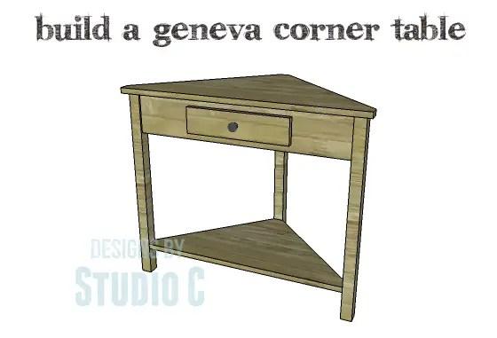 Build A Geneva Corner Table