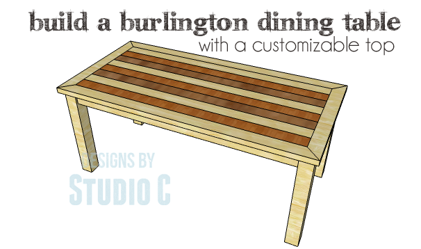 Or Create Your Own Design DIY Plans To Build A Burlington Dining Table Copy