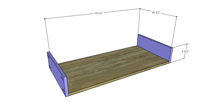 DIY Plans to Build a Starling Armoire_Drawer BS