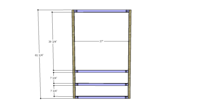 DIY Plans to Build a Starling Armoire_Front Frame 1