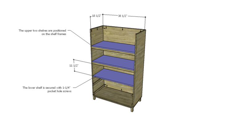DIY Plans to Build a Starling Armoire_Shelves