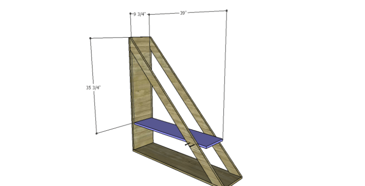 DIY Plans to Build a Henry Bookcase_Shelf 1