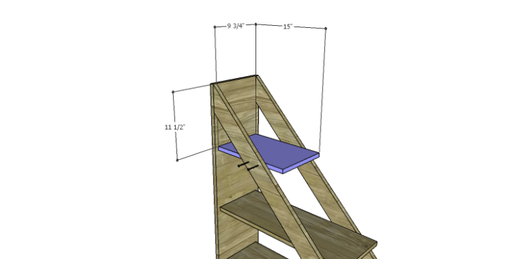 DIY Plans to Build a Henry Bookcase_Shelf 3