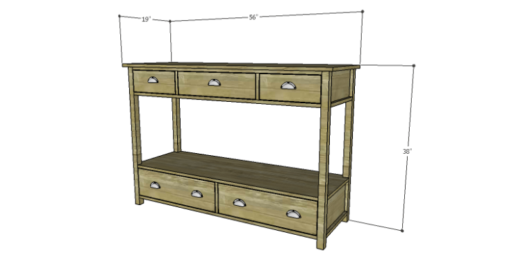 DIY Plans to Build an Edinburgh Console Table