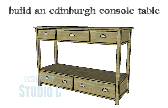 DIY Plans to Build an Edinburgh Console Table_Copy