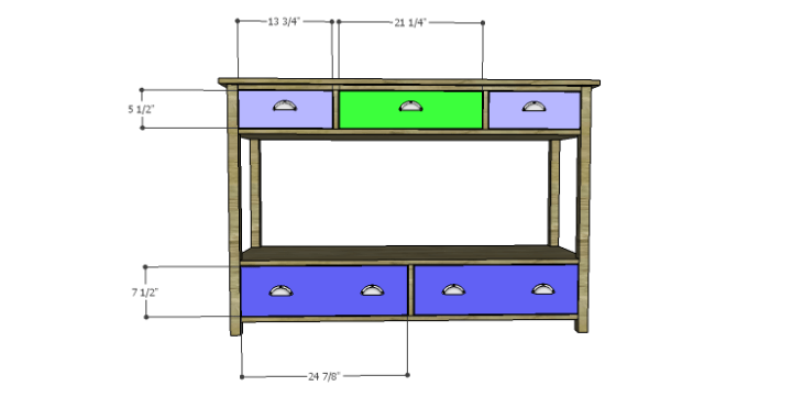 DIY Plans to Build an Edinburgh Console Table_Drawer Fronts