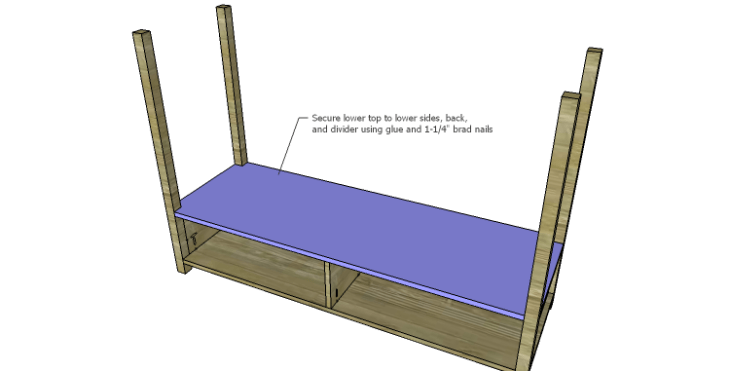 DIY Plans to Build an Edinburgh Console Table_Lower Top