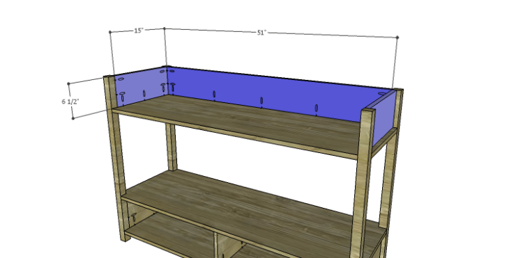 DIY Plans to Build an Edinburgh Console Table_Upper Sides & Back