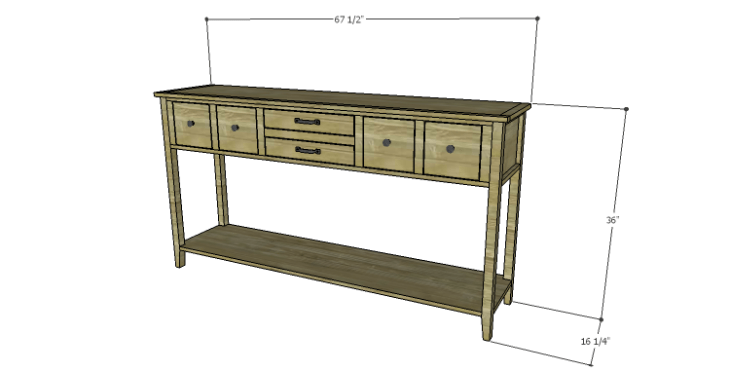 DIY Plans to Build a Tuscana Console Table
