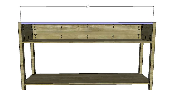 DIY Plans to Build a Tuscana Console Table_Upper Stretcher