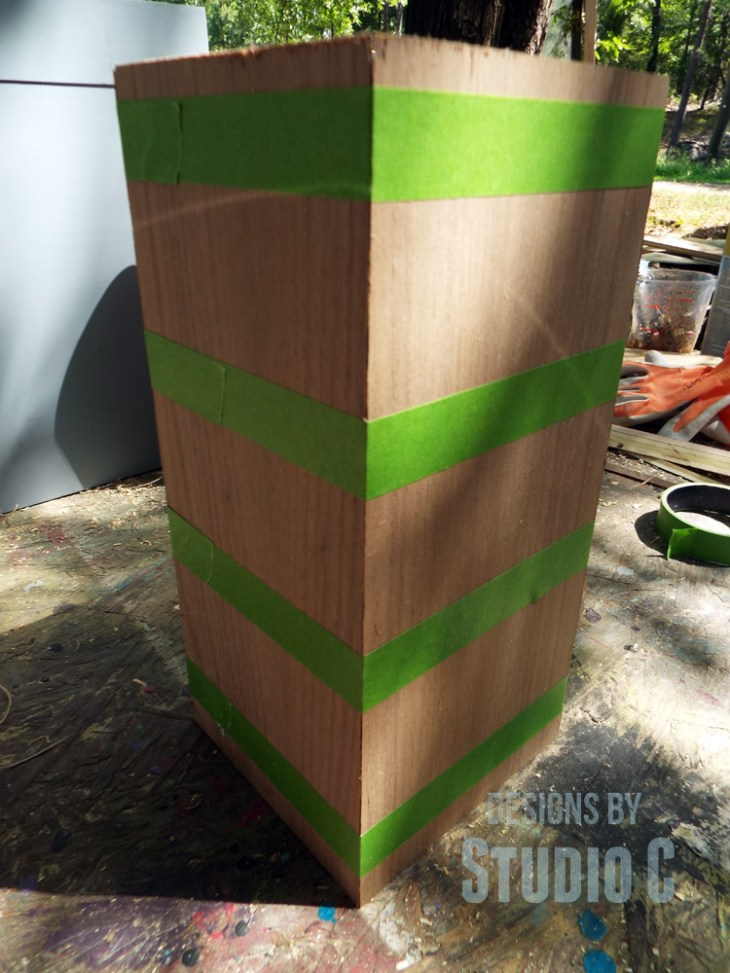 DIY Plans to Build a Lamp Base with Plywood_Taped Assembly