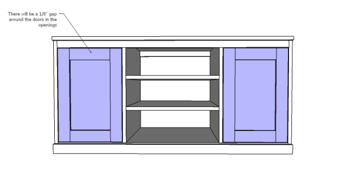 DIY Plans to Build a Piedmont Media Console_Doors 3