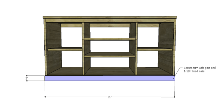 DIY Plans to Build a Piedmont Media Console_Trim