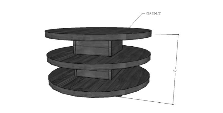 DIY Plans to Build a Round Shelf Coffee Table