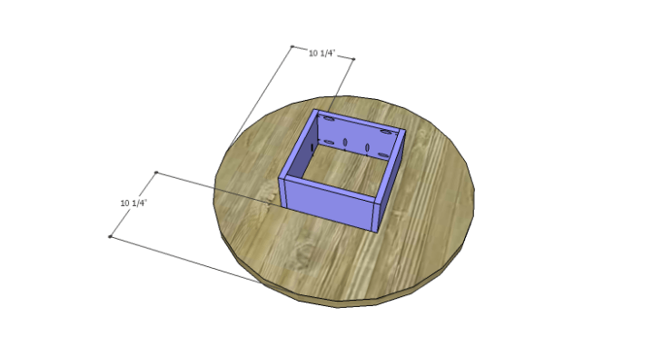 DIY Plans to Build a Round Shelf Coffee Table_Frame 1b
