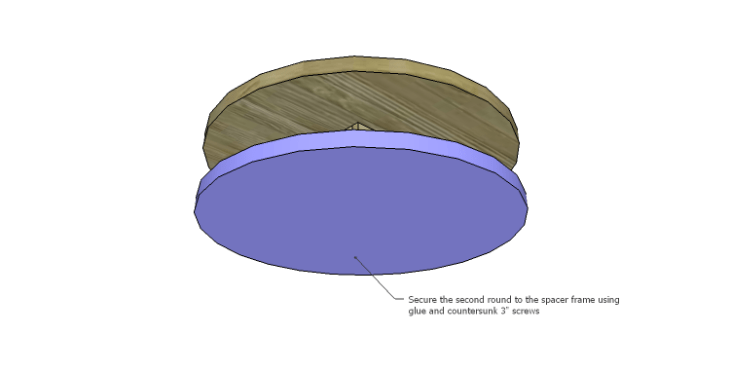 DIY Plans to Build a Round Shelf Coffee Table_Round 2