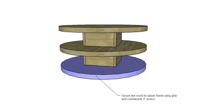 DIY Plans to Build a Round Shelf Coffee Table_Round 3