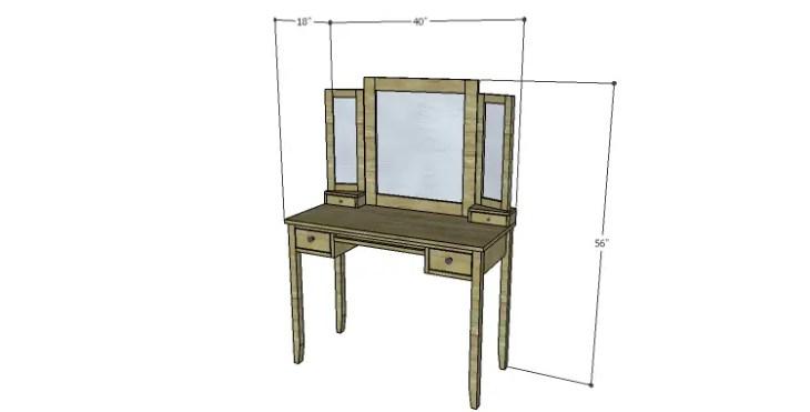 DIY Plans to Build a Magnolia Vanity Table
