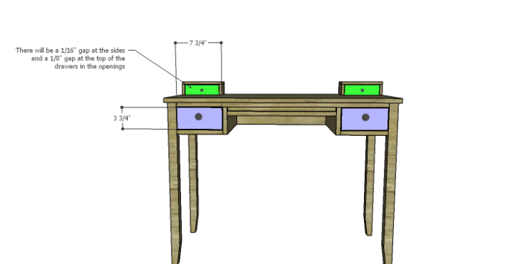 DIY Plans to Build a Magnolia Vanity Table_Drawers