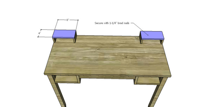 DIY Plans to Build a Magnolia Vanity Table_Upper Drawer Top