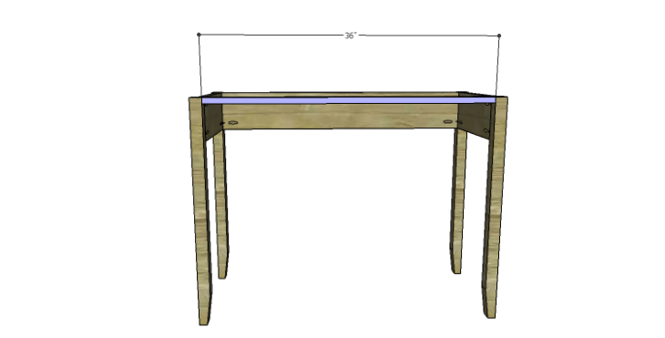 DIY Plans to Build a Magnolia Vanity Table_Upper Stretcher