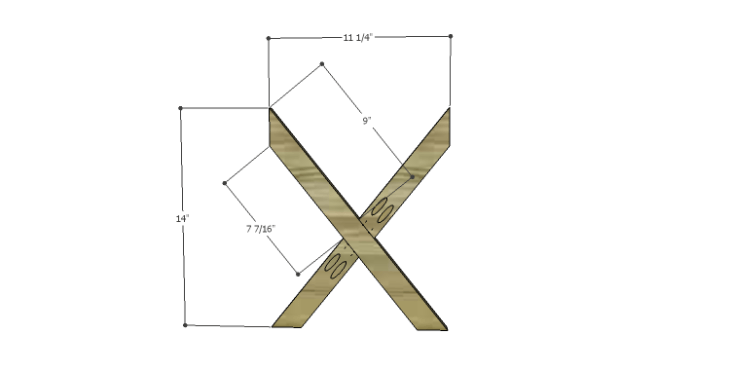 DIY Plans to Build a McKenzie Bar Stool_X Braces 2
