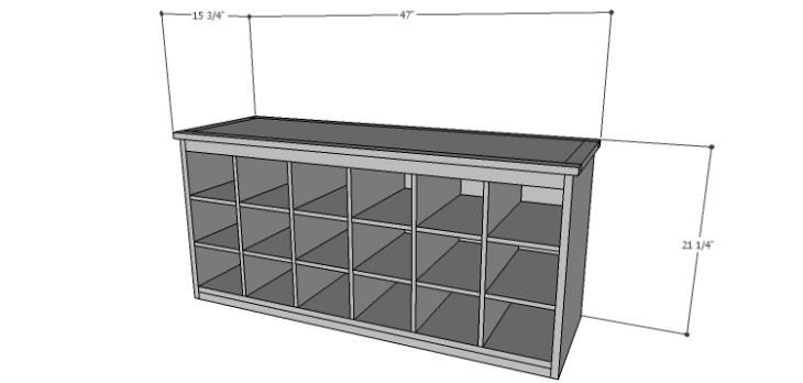 DIY Plans to Build a Maxwell Shoe Storage Bench