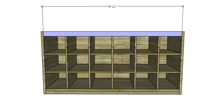DIY Plans to Build a Maxwell Shoe Storage Bench_Front Stretcher