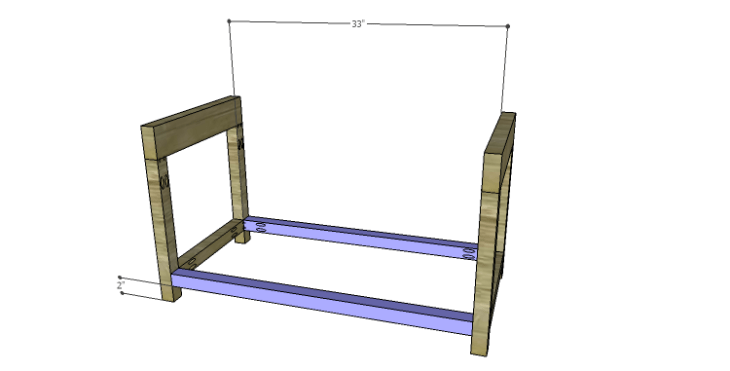 DIY Plans to Build a Laura Storage Bench_Lower Stretchers