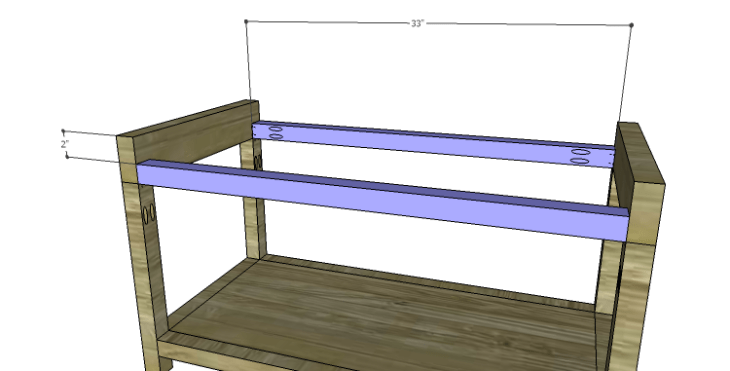 DIY Plans to Build a Laura Storage Bench_Upper Stretchers