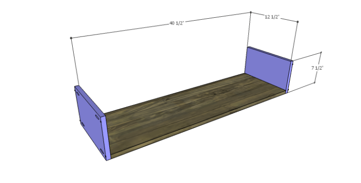 DIY Plans to Build a River Crest Media Chest_Large Drawer BS
