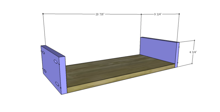 DIY Plans to Build a Rolling Storage Cubby_Drawers BS