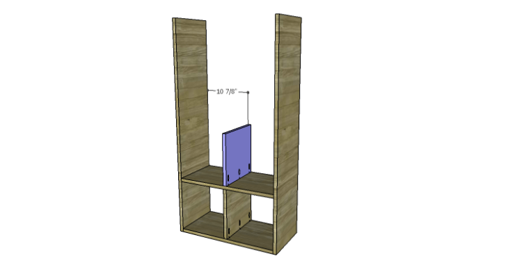 DIY Plans to Build a Rolling Storage Cubby_Mid Divider