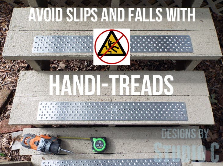 Installing Handi-Treads on Exterior Stairs caption