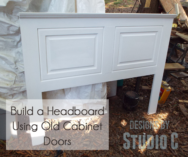 an easy to build headboard using unexpected pieces designs by studio c. Black Bedroom Furniture Sets. Home Design Ideas