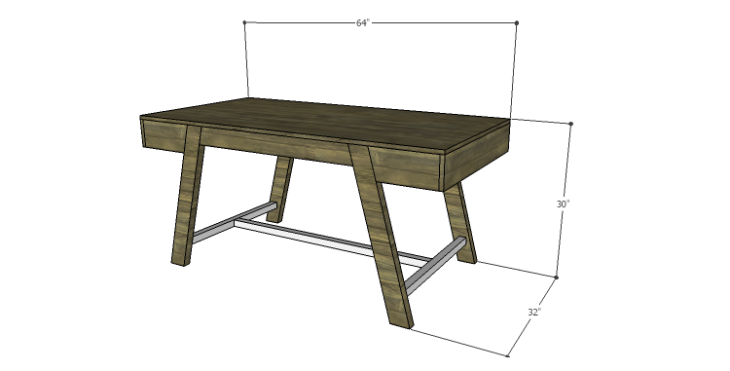 DIY Plans to Build a Wyatt Writing Desk