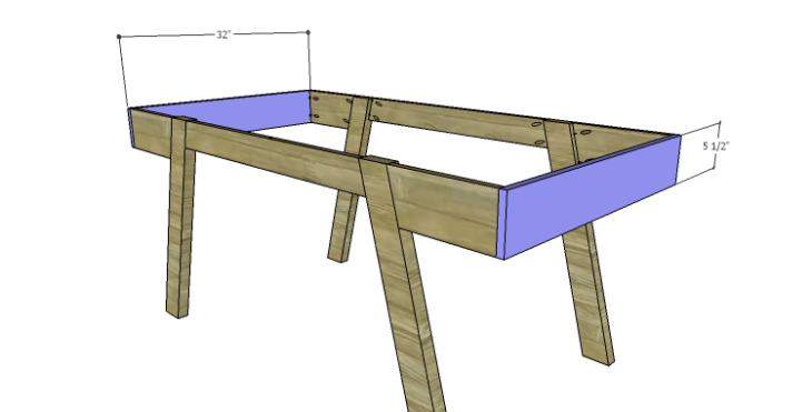 DIY Plans to Build a Wyatt Writing Desk_End Framing