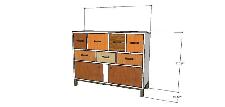 DIY Plans to Build a Mismatched Dresser