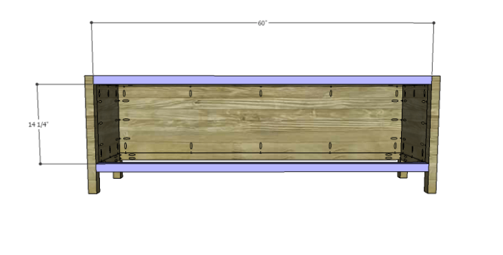 DIY Plans to Build a Jamie Media Console_Front Stretchers