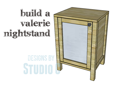 A simple nightstand to build with a mirrored door for Simple nightstand designs