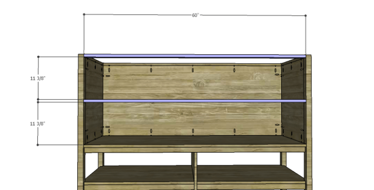 DIY Plans to Build a Forester Sideboard_Front Stretchers