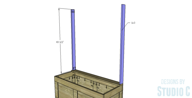 DIY Plans to Build a Slatted Hall Bench_Back Sides
