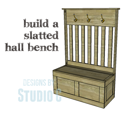 DIY Plans to Build a Slatted Hall Bench_Copy
