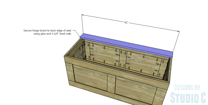 DIY Plans to Build a Slatted Hall Bench_Hinge Board